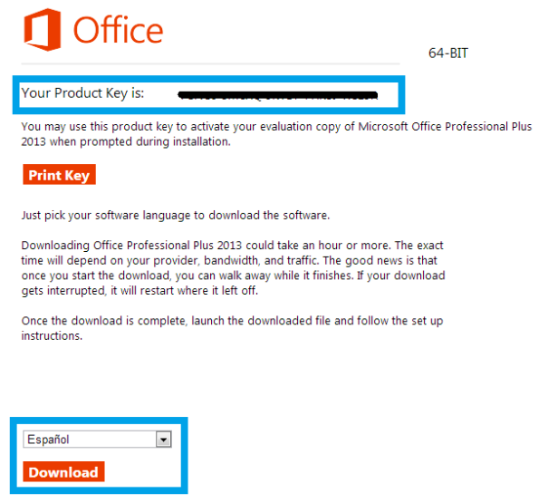 Office Plus 2013 licencia