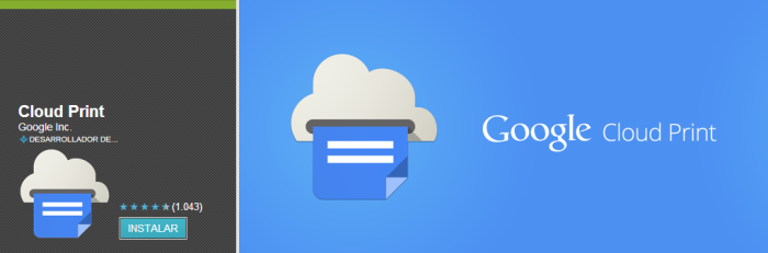 Google Cloud print app
