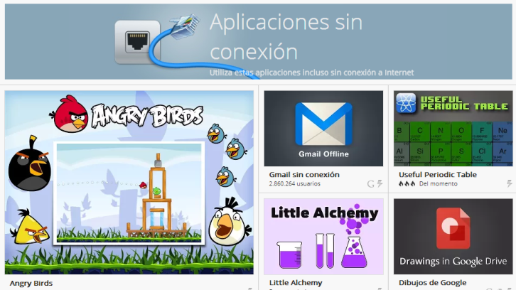 Chrome apps sin conexión