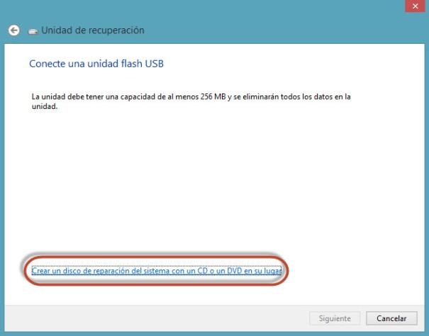 USB o DVD