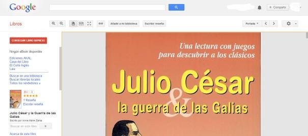 google libros ejemplo Julio Cesar