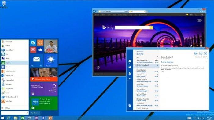 Windows 9 menu inicio